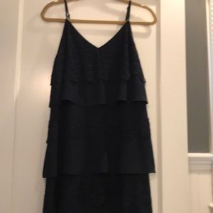 Diane Von Furstenberg spaghetti strap tiered dress
